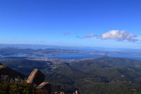 Hobart from Mt Welli